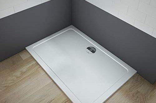 Aica Sanitär Duschtasse Duschwanne 110x90cm Rechteck Weiß inkl.Ablaufgarnitur mehrere Außenmaßen