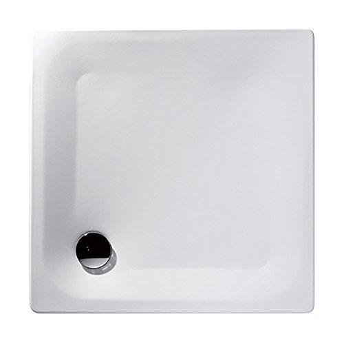 Kaldewei 01414 4 Stahl-Brausewanne Sunda 90, weiß, extra flach, 90 x 90 x 2,5 cm